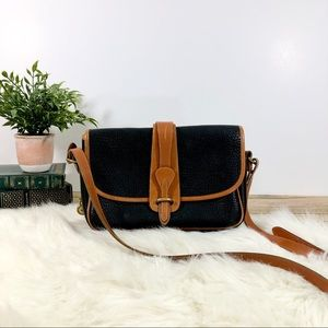 Dooney and Bourke Black Leather Crossbody Purse